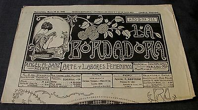 ANTIQUE MAY 25 1926 EMBROIDERY JOURNAL w/ PATTERNS, LACES, ALPHABETS, MONOGRAMS