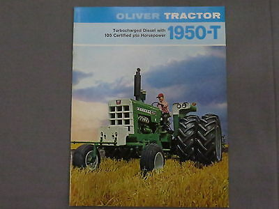 original 1969 Oliver 1950-T Tractor sales Brochure Catalog Turbo RARE!
