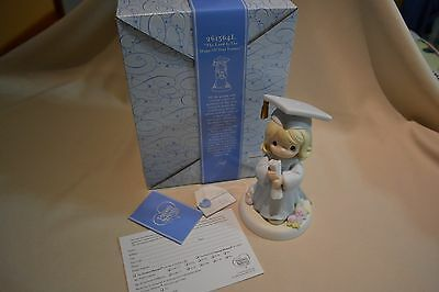 Nib 1999 Precious Moments The Lord Is The Hope Of Our Future 261564L Blonde Hair