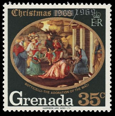 "GRENADA 343 (SG365) - Christmas ""Adoration of the Magi"" by Botticelli (pf7409)"