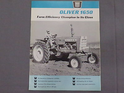 original 1965 Oliver 1650 Tractor sales Brochure Catalog