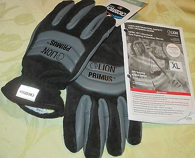 Men's XL LION PRIMUS Structural FIRE FIGHTING PROTECTIVE GLOVES Firefighter NFPA