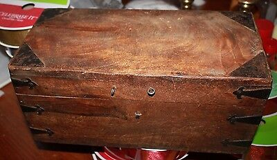 Faux Mahogany Grained Painted 19th Century large document box