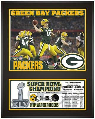 """Green Bay Packers Super Bowl XLV Champions Sublimated 12"""" x 15"""" Plaque"""