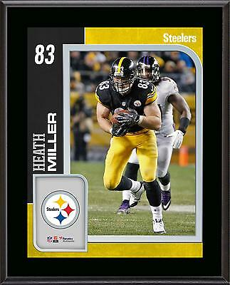 Heath Miller Pittsburgh Steelers 10.5'' x 13'' Sublimated Player Plaque