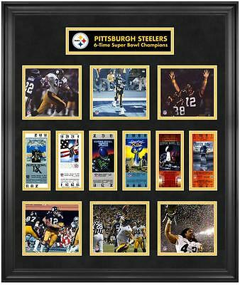 Pittsburgh Steelers Framed Super Bowl Ticket Collage-Limited Edition of 1000