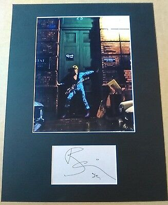 David Bowie Hand Signed Ziggy Stardust Display AFTAL COA Music