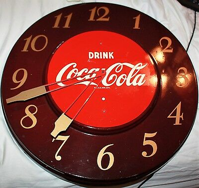 "1952 Drink Coca-cola General Appliance round 18"" diameter electric wall Clock"