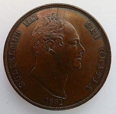 1831 William Iv Copper Penny  No Ww Condition Unc Pcgs Ms 62