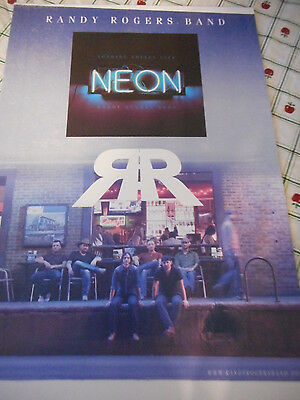Randy Rogers Band Neon Album Release Promo Poster