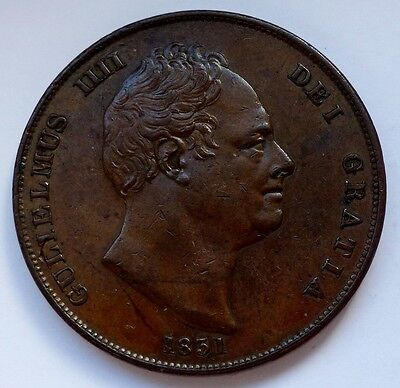 1831 William Iv Copper Penny  .w.w   Peck States Very Scarce Pcgs Au 58