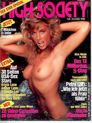 High Society Nr.3/1988 Sex Star Spezial - Vintage Farbfoto-Magazin