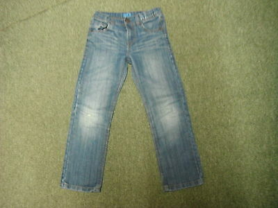 "Marks & Spencer Regular Fit Jeans W 25"" L 22"" Faded Dark Blue Boys 7/8 Yrs Jeans"
