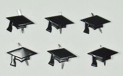 BRADS GRADUATION HAT / CAP pk of 6 school uni kindy scrapbooking craft split pin