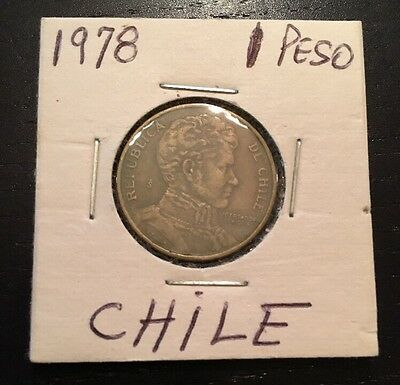 1978 Chile One 1 Peso Coin Nice Condition