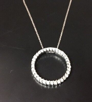 Diamond Circle Pendant Necklace Silver, 18 Inch Chain, From Kohls
