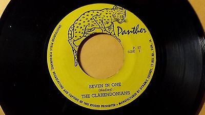 """The Clarendonians - Seven in One/Reggae 7"""" on Panther Label"""
