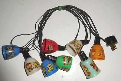 Vintage Christmas Tree Lights with GE Cartoon Light Shades