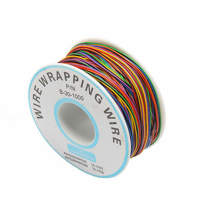 8 Colors One Roll 30AWG Wire Wrapping Wire, Tinned Copper Solid, PVC insulation