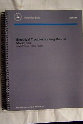 Mercedes 560sl 380sl Owners Electrical Service Manual W107 new