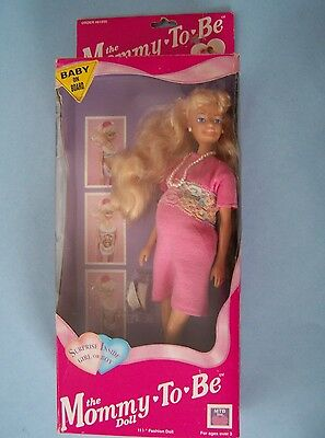 JUDITH MOMMY TO BE DOLL 1991 PREGNANT MOM & BABY in PINK DRESS MIB