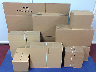 "Single & Double Wall Cardboard Boxes All Sizes 5"" 6"" 7"" 8"" 9"" 12"" 18"" 14"" New"