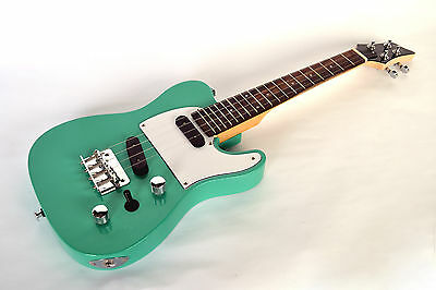 Tenor Ukulele Electric Steel String Telecaster Guitar Shape In Sea Foam Green By