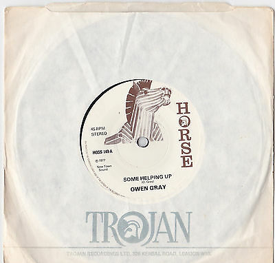 "Owen Paul * Some Helping Up * 7"" Single Horse Hoss 149 Plays Great"