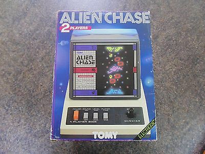 Alien Chase Handheld Tabletop Tomy Game Boxed Retro 1984 Complete Working