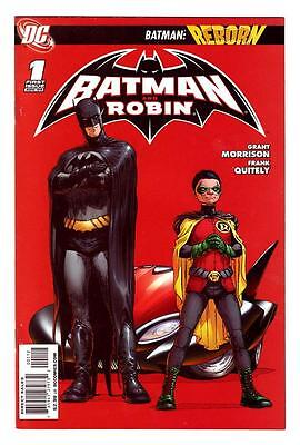 BATMAN and ROBIN REBORN 1  (NM) 2nd PRINT RED BACKGROUND  (FREE SHIPPING ) *