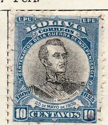Bolivia 1909 Early Issue Fine Used 10c. 113756