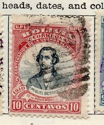 Bolivia 1909 Early Issue Fine Used 10c. 113759