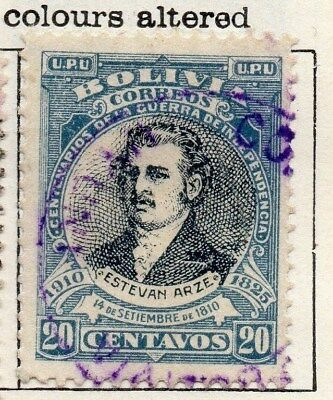 Bolivia 1909 Early Issue Fine Used 20c. 113760