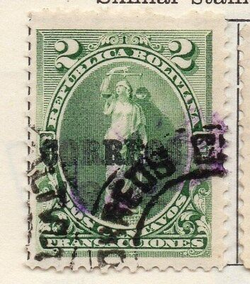 Bolivia 1912 Early Issue Fine Used 2c. 113763
