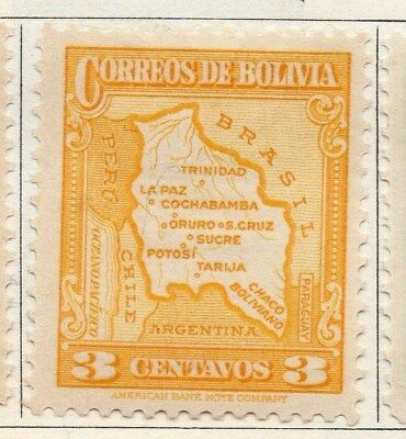 Bolivia 1935 Early Issue Fine Mint Hinged 3c. 113787