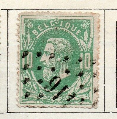 Belgium 1869 Early Issue Fine Used 10c. 115061