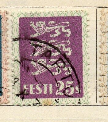 Estonia 1928-29 Early Issue Fine Used 25s. 114139