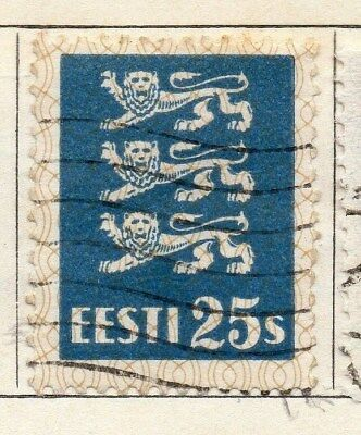 Estonia 1928-29 Early Issue Fine Used 25s. 114140