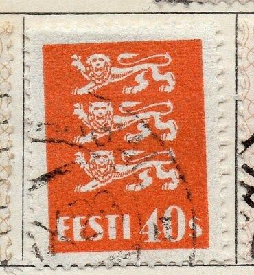 Estonia 1928-29 Early Issue Fine Used 40s. 114141