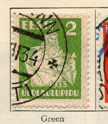 Estonia 1933 Early Issue Fine Used 2s. 114148