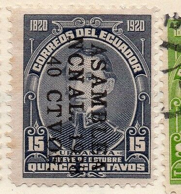 Ecuador 1928 Early Issue Fine Mint Hinged 15c. Surcharged Optd 114180