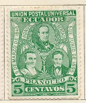 Ecuador 1895 Early Issue Fine Mint Hinged 5c. 114195