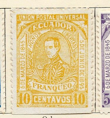 Ecuador 1895 Early Issue Fine Mint Hinged 10c. 114198