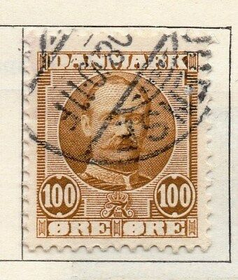 Denmark 1907 Early Issue Fine Used 100ore. 114251