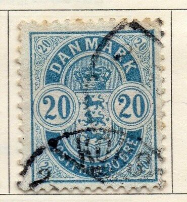 Denmark 1882 Early Issue Fine Used 20ore. 114280
