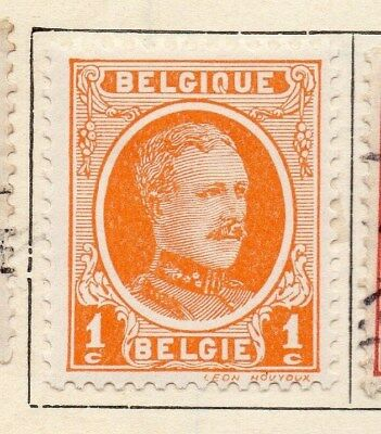 Belgium 1921-26 Early Issue Fine Mint Hinged 1c. 114301