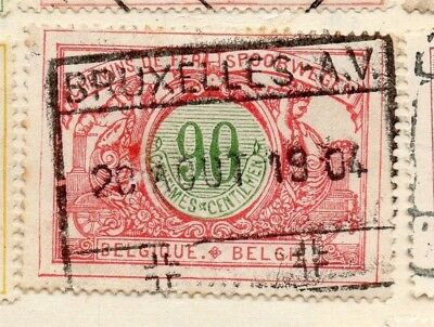 Belgium 1902 Early Issue Fine Used 90c. 114469