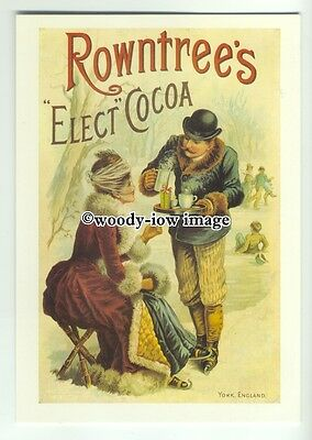 ad0394 - Rowntrees Elect Cocoa - Lady Being Served Cocoa- Modern Advert Postcard