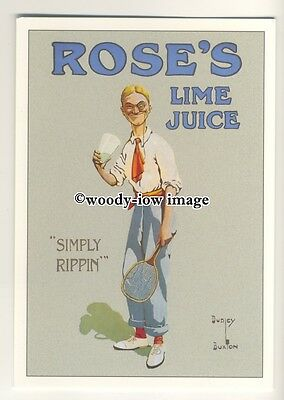 ad0414 - Roses Lime Juice - Tennis Refreshment - Cordial  Modern Advert Postcard