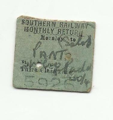 SR ticket, Horsley to Pant, 1942